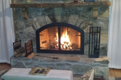 Custom Arch Fireplace door 2
