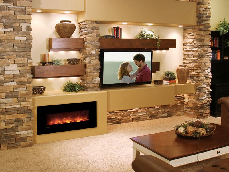 Electric Stoves Fireplaces And Inserts Modern Flames Media Wall
